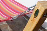 350cm Hängemattengestell NATUR - ALICIA aus Holz Lärche natur mit bunter Stab Hängematte - Bild 5
