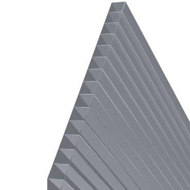 3Stück Hohlkammerstegplatten 143x70cm 6mm Lexan™ Thermoclear™ oder Makrolux Multiwall MADE IN EU