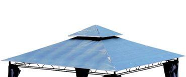 Dachplane für Gartenpavillon 3x3m wasserfest für Modell: 7075 anthrazit - kein Umtausch oder Rückgaberecht