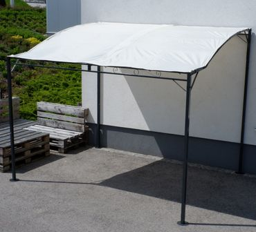 Wand Anbau Pavillon 3 x 2,5 Meter mit Dach 100% wasserdicht UV30+ Model: TROPEA – Bild 18