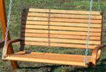 Design Hollywoodschaukel Gartenschaukel KUREDO-OD aus Holz Lärche - Bild 6