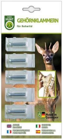 Gehörnklammern Rehwild 5er Pack – Bild 1