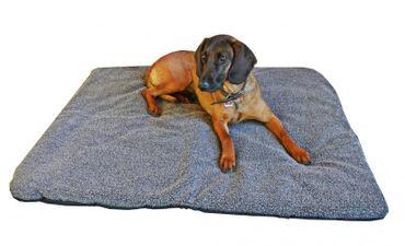 AKAH Hundebett Decke Faserpelz braun mit Thermofüllung XXL 100x120 cm – Bild 1