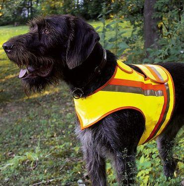 HUNDE-SIGNALWESTE Reflektorweste Hunde-Warnweste AKAH Dackel und Terrier – Bild 1