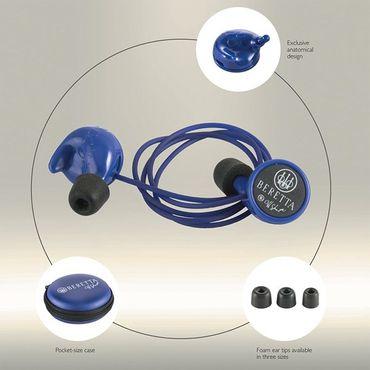 Beretta Gehörschutz Ohrenstöpsel Ear Plugs Mini Head-Set Passiv BLAU – Bild 1