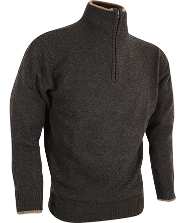 Lammwolle Troyer Pullover Jack Pyke England dunkeloliv braun Jagd Angeln Outdoor