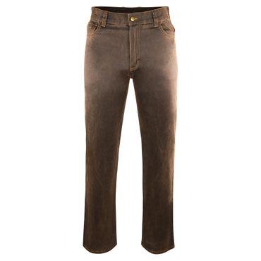 AKAH Traveller Jeans braun Leder Optik Jagd Jeans – Bild 1