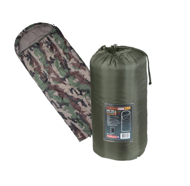 Schlafsack Thermobag 300 Military Armee Oliv Camouflage 90x220cm