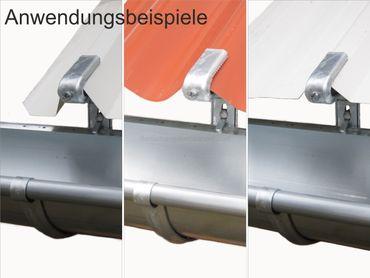 25St verz. Rinnenhalter Trapezblech Wellplatten 6-tlg./333 – Bild 3