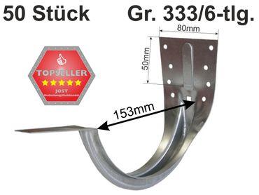 50St verzinkt Stirnbretthalter Stirnbrettrinneneisen 333/6-tlg. – Bild 1