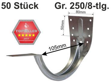 50St verzinkt Stirnbretthalter Stirnbrettrinneneisen 250/8-tlg. – Bild 1