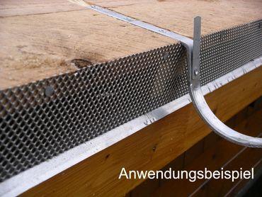 verzinkt Rinneneisen Rinnenhalter 280/7-tlg. F/F  – Bild 3
