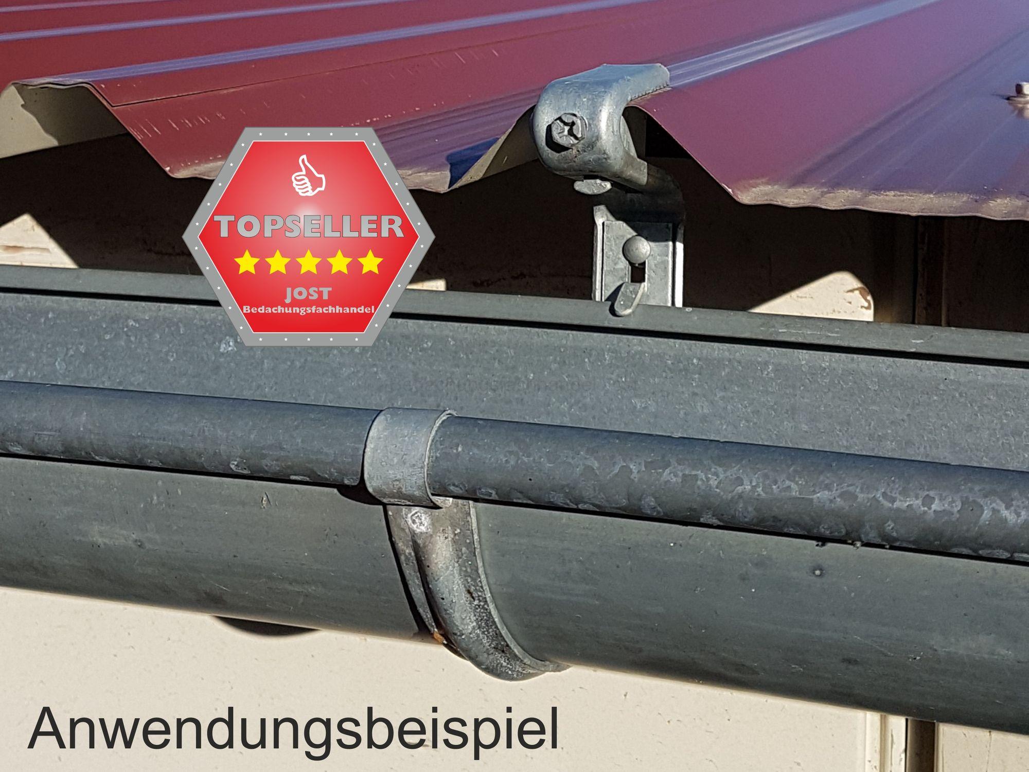 verzinkt rinnenhalter trapezblech wellplatten 6-tlg./333 dachrinne