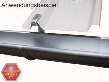 verzinkt Rinnenhalter Trapezblech Wellplatten 6-tlg./333  – Bild 4