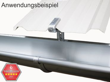 verzinkt Rinnenhalter Trapezblech Wellplatten 6-tlg./333  – Bild 6