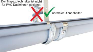 verzinkt Rinnenhalter Trapezblech Wellplatten 6-tlg./333  – Bild 10