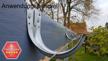 verzinkt Stirnbretthalter Stirnbrettrinneneisen Rinnenhalter 280/7-tlg. – Bild 3