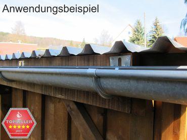 verzinkt Stirnbretthalter Stirnbrettrinneneisen Rinnenhalter 280/7-tlg. – Bild 4
