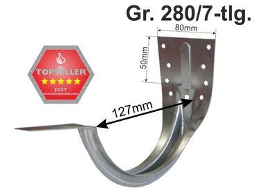 verzinkt Stirnbretthalter Stirnbrettrinneneisen Rinnenhalter 280/7-tlg. – Bild 1
