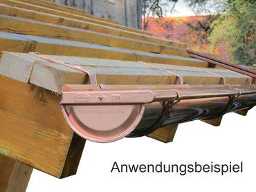 Kupfer massiv Rinneneisen Rinnenhalter 7-tlg./280 F/F  – Bild 2