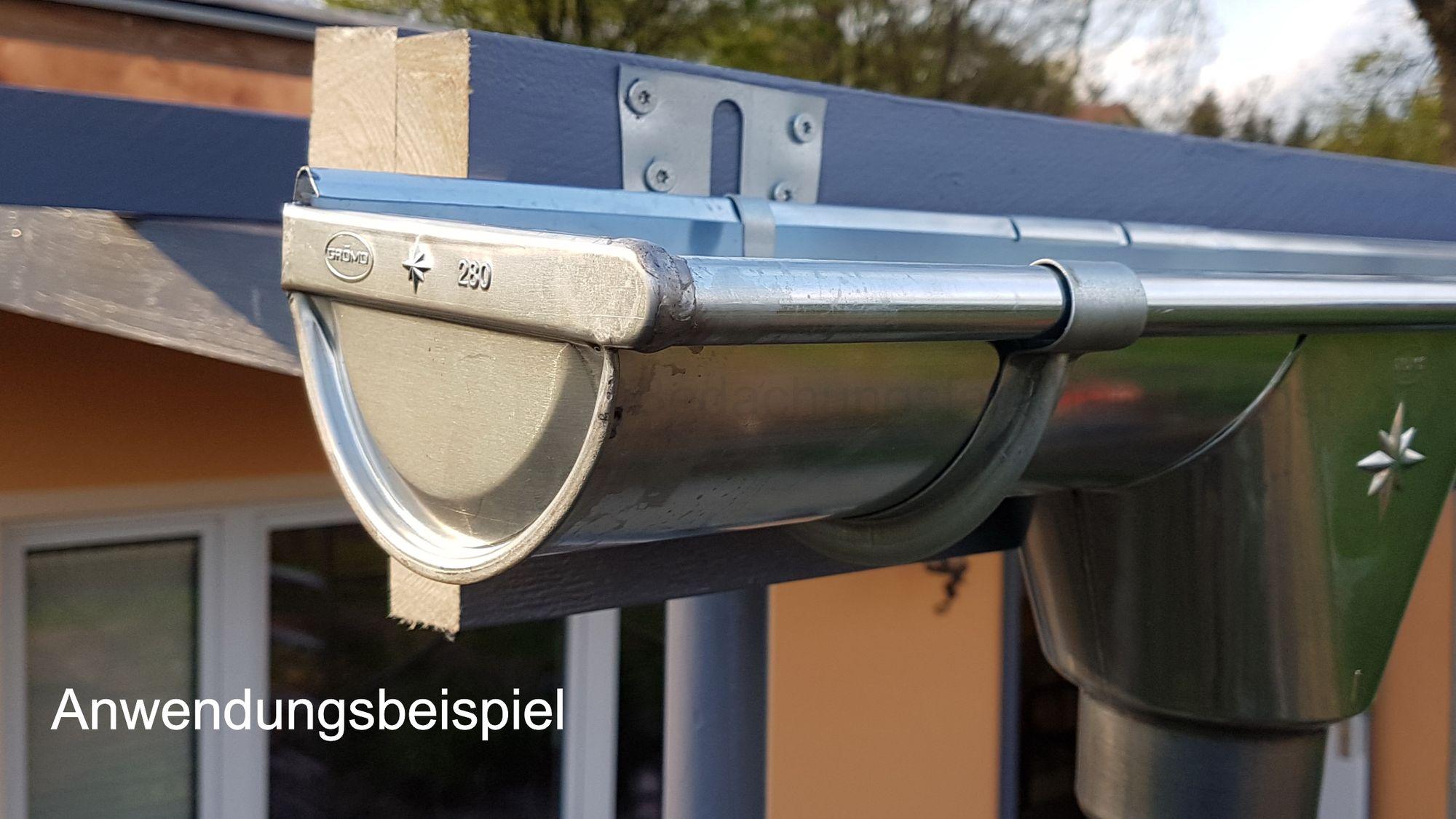 zink rinnenboden universal 6-tlg./333 dachrinne und fallrohre
