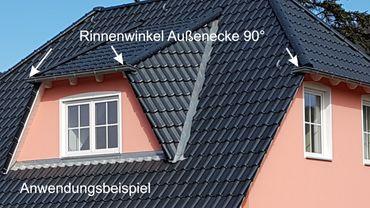 Zink Rinnenwinkel außen 8-tlg./250  – Bild 2