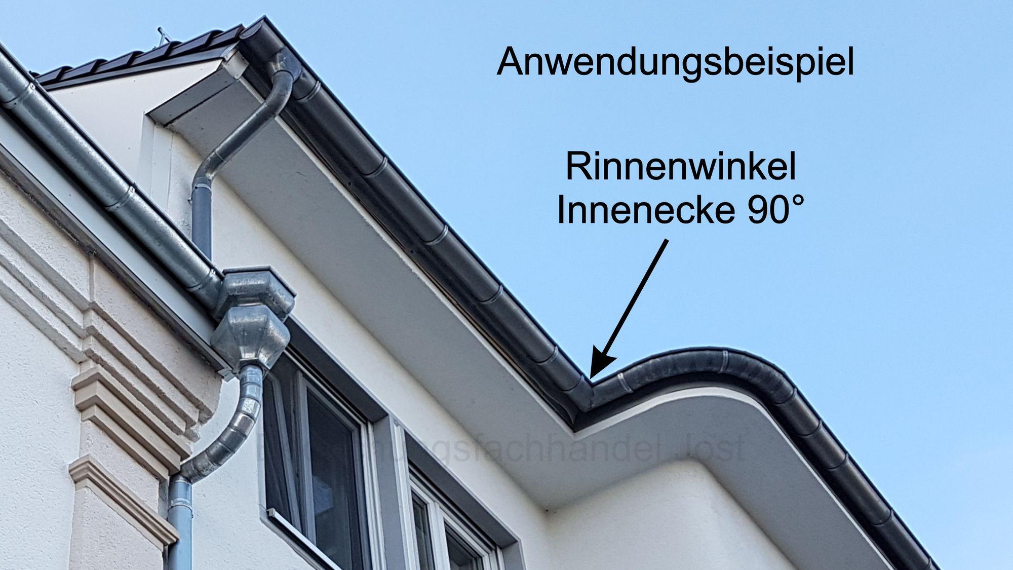 zink rinnenwinkel innen 6-tlg./333 dachrinne und fallrohre rinnenwinkel