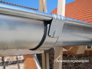 Zink Rinnenverbinder Dachrinnenverbinder Dachrinne Größe 400/5-tlg. – Bild 3