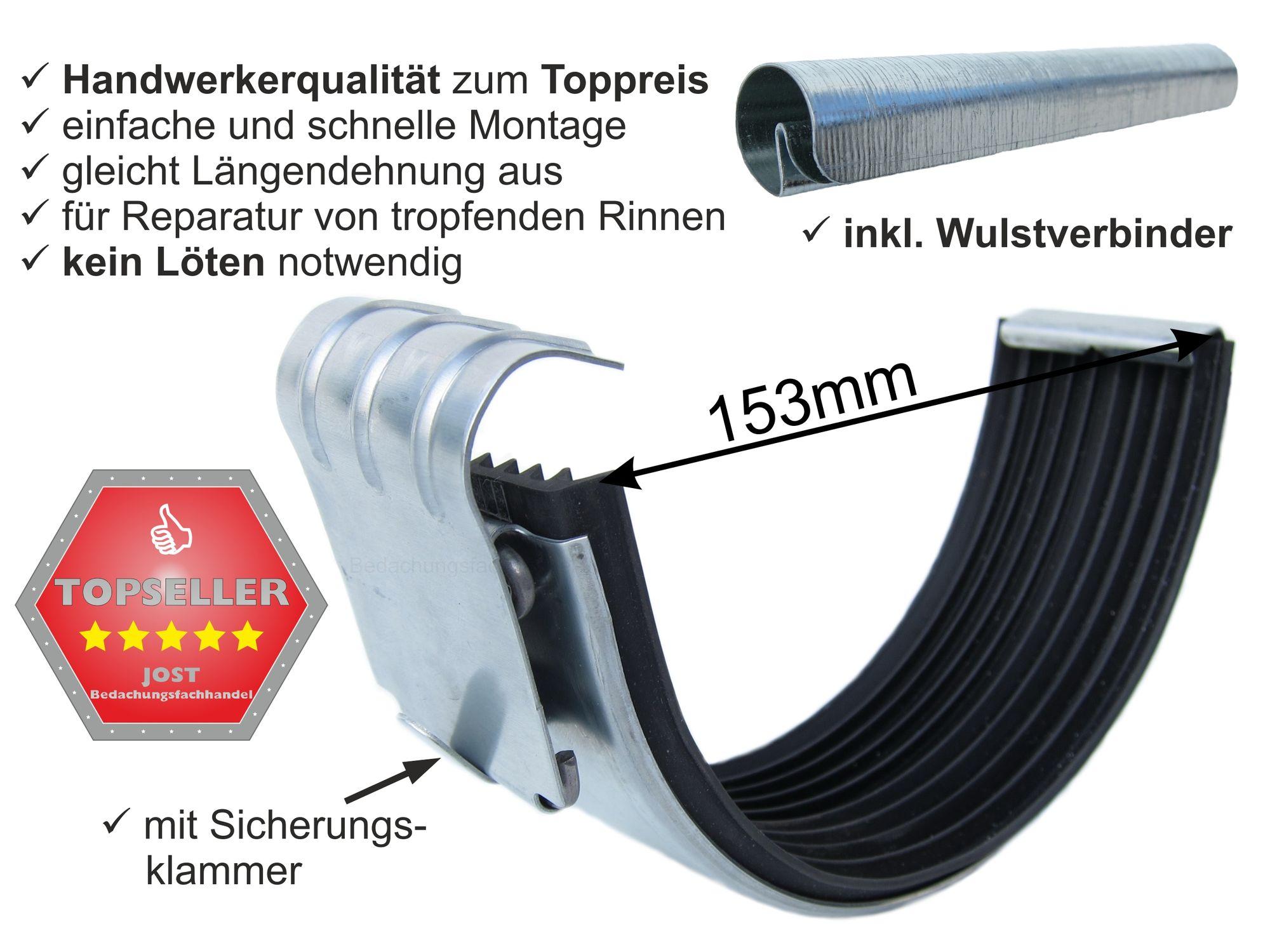 zink rinnenverbinder dachrinnenverbinder dachrinne größe 6-tlg./333