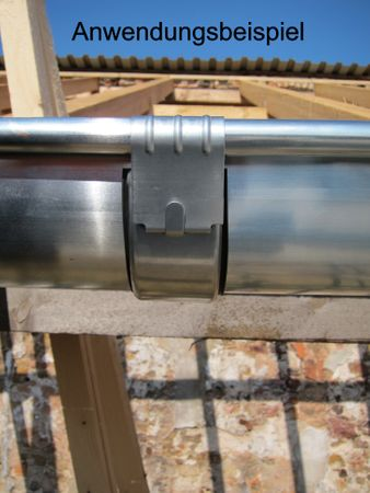 Zink Rinnenverbinder Dachrinnenverbinder Dachrinne Größe 7-tlg./280 – Bild 4