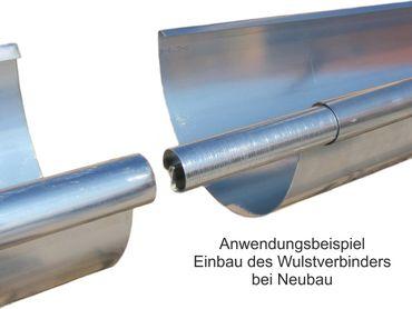 Zink Rinnenverbinder Dachrinnenverbinder Dachrinne Größe 8-tlg./250 – Bild 2