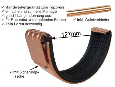 Kupfer Rinnenverbinder Dachrinnenverbinder Dachrinne Größe 7-tlg./280 – Bild 1
