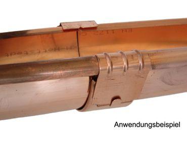 Kupfer Rinnenverbinder Dachrinnenverbinder Dachrinne Größe 8-tlg./250 – Bild 2
