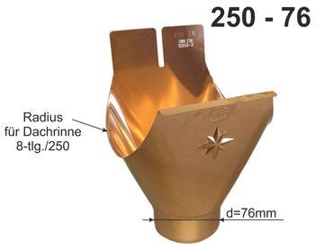 Kupfer Einhangstutzen 250/8-tlg. d= 76mm – Bild 1