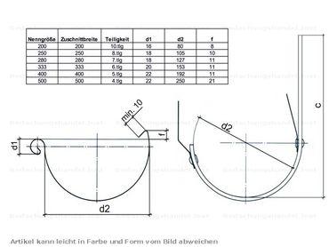 Kupfer Einhangstutzen 250/8-tlg. d= 80mm – Bild 2
