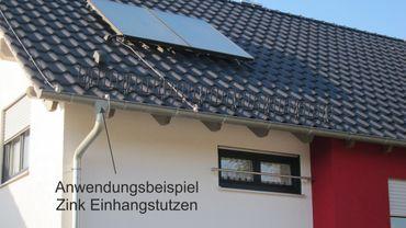Zink Einhangstutzen 280/7-tlg. d=100mm (Sonderform)  – Bild 2