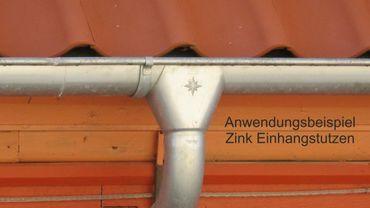 Zink Einhangstutzen 250/8-tlg. d= 80mm – Bild 3