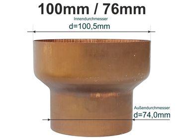 Kupfer Reduzierstück Fallrohr Reduzierung D10076mm Oder übergang