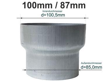 Fein Aluminium Reduzierung Von Dn 100 Auf Dn 87 Baustoffe & Holz Heimwerker