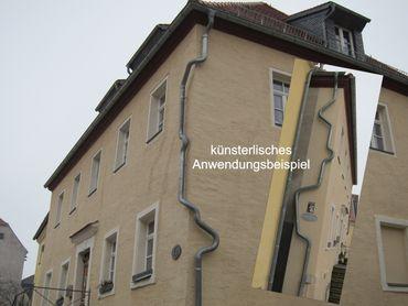 Zink Fallrohrbogen mit Einzug d=100mm x 40° Regenfallrohr Bogen – Bild 5