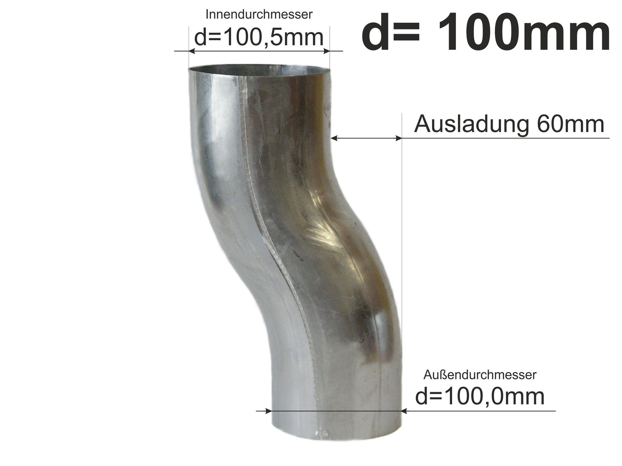 TITANZINK Sockelknie 80 mm Sockelbogen Etagenbogen Fallrohr Regenrohr Dachrinne