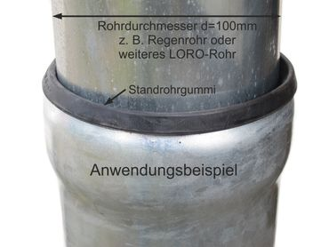 Standrohrgummi d=100mm für LORO-X Rohre – Bild 2