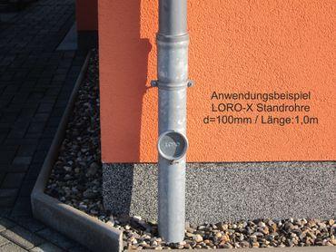 verzinkt LORO-X Standrohr mit Reinigung 100x1000mm Innenbesch. - SONDERPREIS – Bild 2