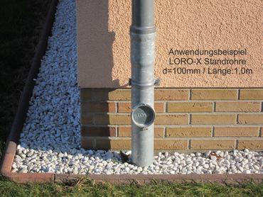 verzinkt LORO-X Standrohr mit Reinigung 100x1000mm Innenbesch. - SONDERPREIS – Bild 4