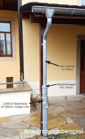 verzinkt LORO-X Standrohr mit Reinigung 100x1000mm Innenbesch. - SONDERPREIS – Bild 5