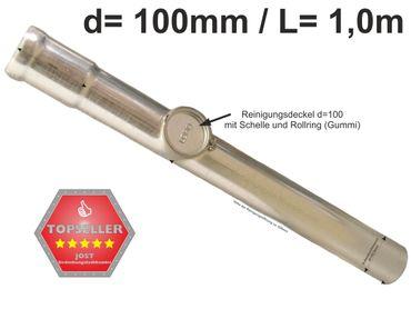 verzinkt LORO-X Standrohr mit Reinigung 100x1000mm Innenbesch. - SONDERPREIS – Bild 1