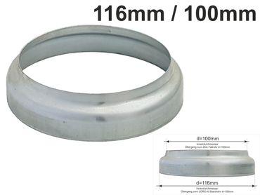 Zink Standrohrkappe 116 x 100mm – Bild 1
