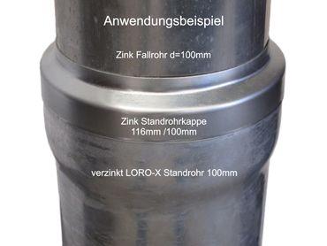 Zink Standrohrkappe 116 x 100mm – Bild 2