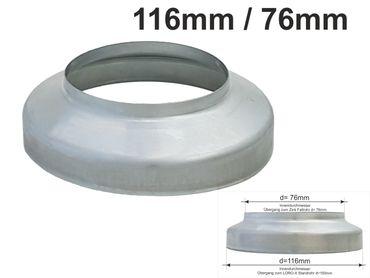 Zink Standrohrkappe 116 x  76mm – Bild 1