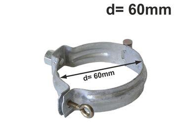 verzinkt Fallrohrschelle mit Mutter M10 d= 60mm, Rohrschellen, Regenrohrschelle – Bild 1